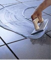 Укладка кафельной плитки.