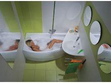 Оригинальные интерьеры маленьких ванных комнат